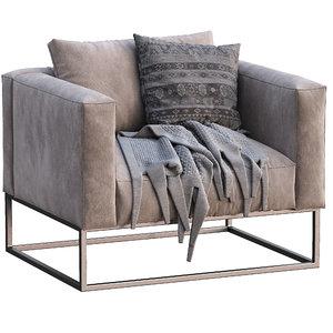 livingdivani armchair ile club 3D model