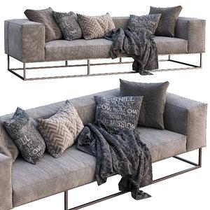 livingdivani sofa ile club 3D