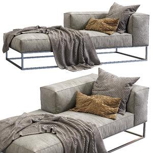 3D livingdivani sofa ile club