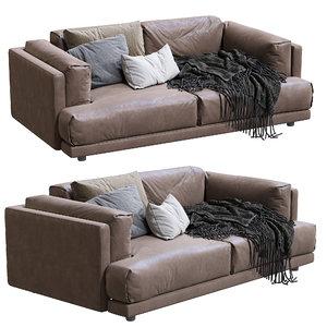 living divani leather sofa 3D model