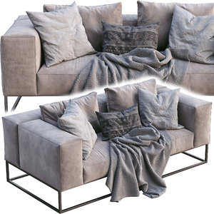 livingdivani sofa ile club 3D model