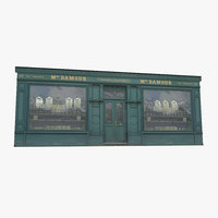Photorealistic Old Store Facade