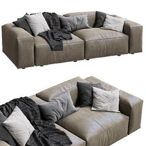 3D livingdivani leather sofa extra model