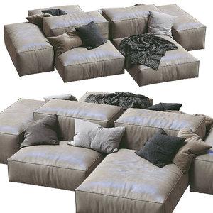 livingdivani leather sofa extra 3D model