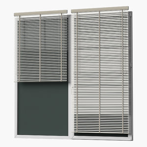 3D windows blinds