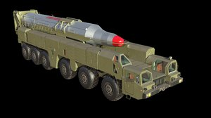 3D musudan missile model