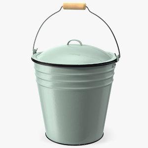 3D blue enamel bucket lid