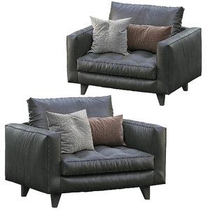 3D model armchair willy slim marac