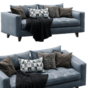 3D leather sofa willy slim