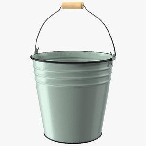 blue enamel bucket 5l 3D model