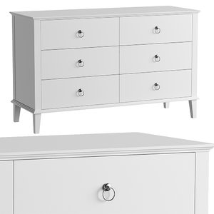 3D chest drawers mp model