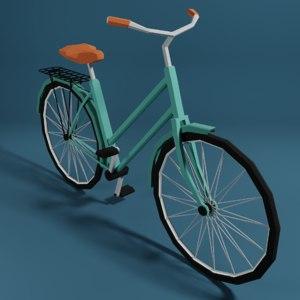 3D cartoon bicycle model