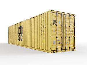 3D model msc 40 feet shipping container