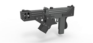 3D submachine gun blade