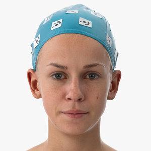 3D rhea human head lip