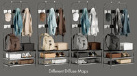 3D realistic wardrobe 2 collections model