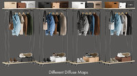 realistic wardrobe 3 clothing 3D