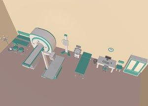 3D cartoon medical equipment model