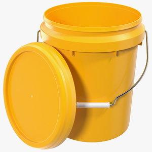 3D plastic bucket 10l lid