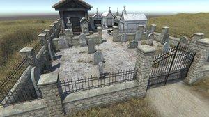 3D graveyard cemetery 1