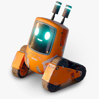 Cute Rover Robot - Game Ready Character
