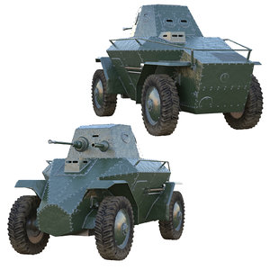 39m csaba armored car 3D