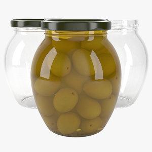jar olives 3D model