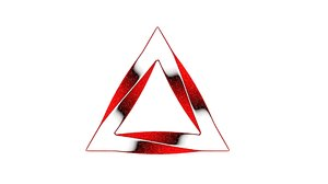 3D model twisted triangle
