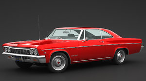 chevrolet 1966 impala 3D model