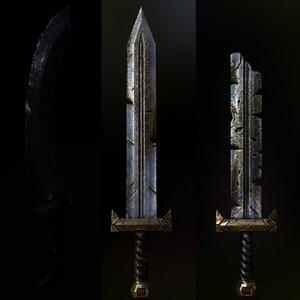 3D model bramir sword