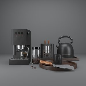 kitchenware food coffee 3D model
