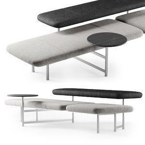 3D kanso bench table