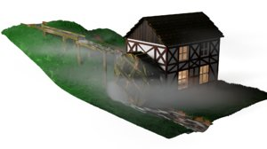 watermill water 3D