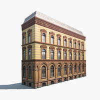 Apartment house #41 Low Poly 3d Model