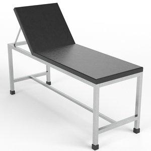 3D patient examination table 2 model