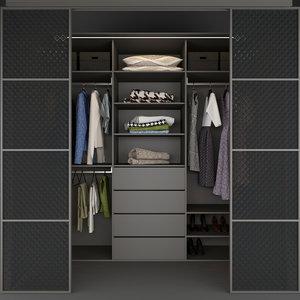 wardrobe dressing clothes 3D