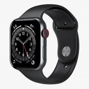 3D model apple watch 6 aluminum