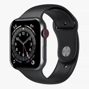 3D model apple watch 6 aluminum