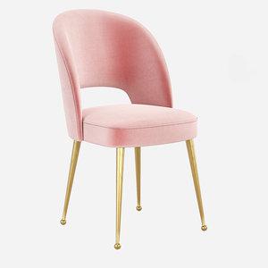 modern upholstered dining room 3D model
