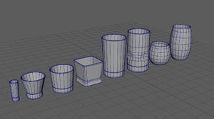 various glass 3D model