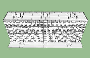 soviet residential building 3D model