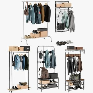 realistic wardrobe 5 clothing 3D model