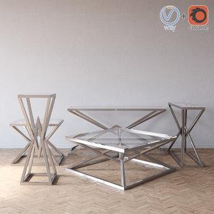 connor series eichholtz tables 3D model