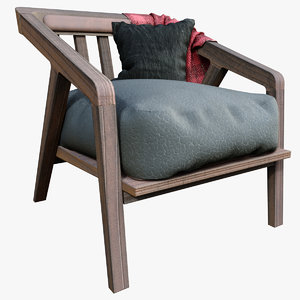 katakana armchair 3D model