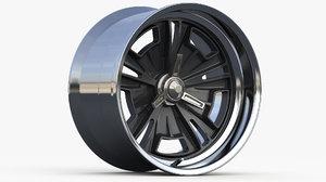 3D wheel type halibrand concept model