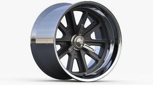 3D model wheel type halibrand