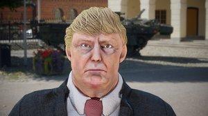 president donald trump gameready 3D model