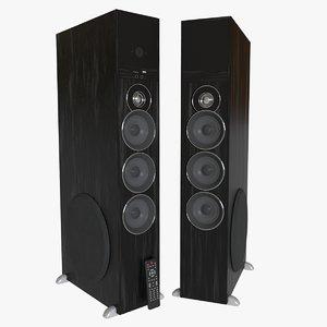 3D model tower speakers