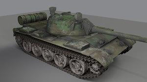 tank t-55 t 3D