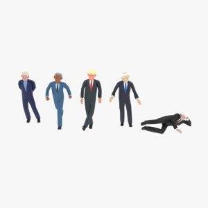 rigged politicians 3D model